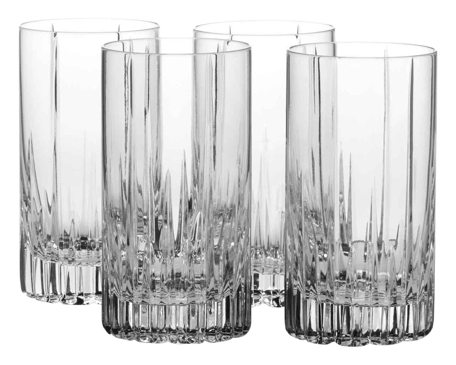 Mikasa Arctic Lights Crystal Highball Glass, 12.5-Ounce, Set of 4 by Mikasa
