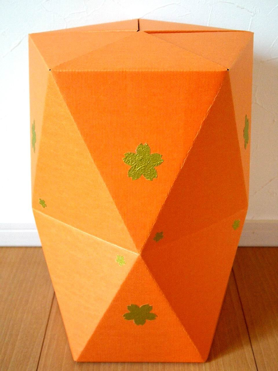 CARBOARD STOOL ~This is made with your hand.~ (Orange)