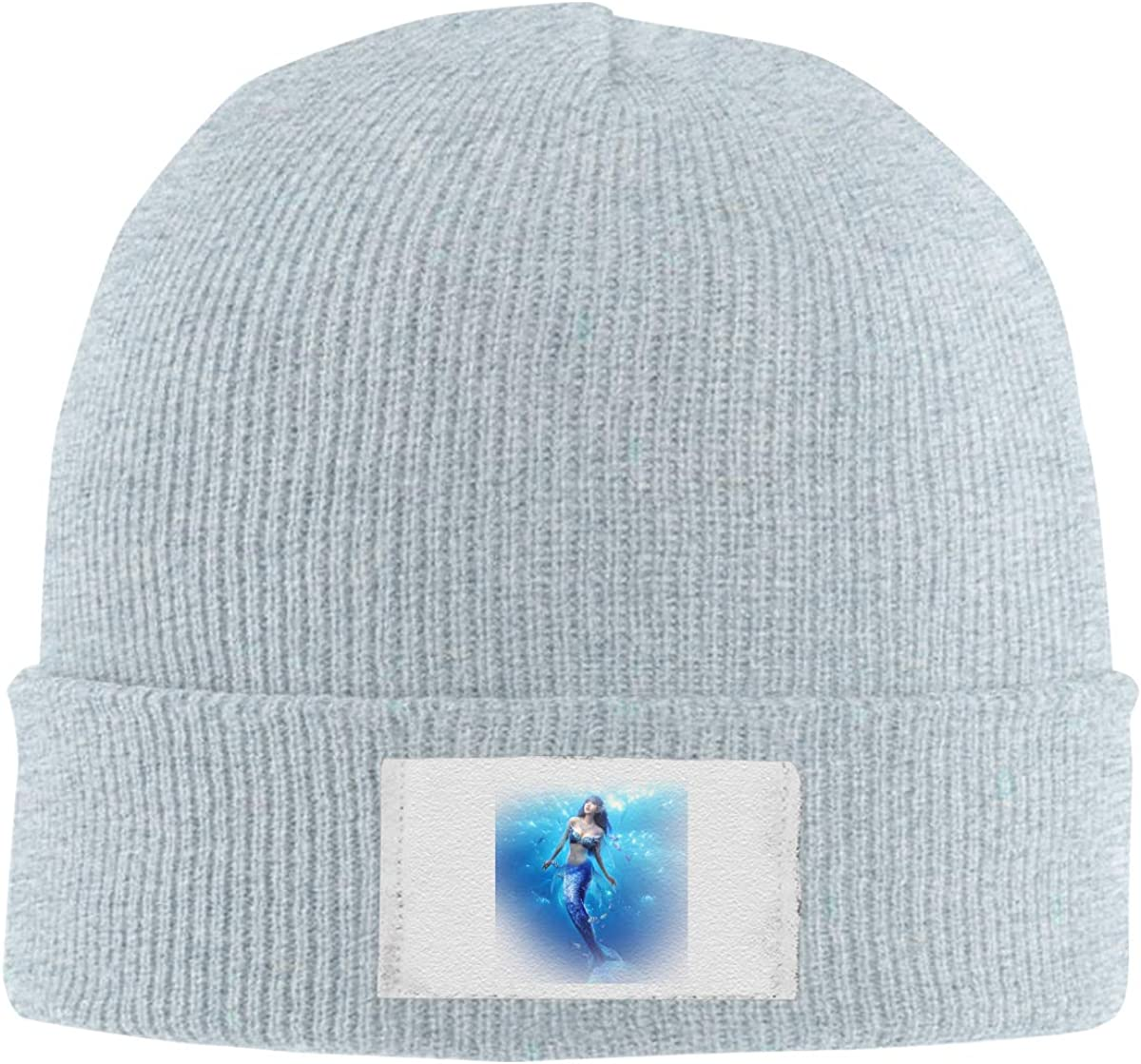 Mermaid Knitted Hat Winter Outdoor Hat Warm Beanie Caps for Men Women