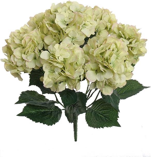 Bouquet Sposa Verde.Yolandabecool 7 Teste Di Seta Artificiale Fiori Finti Foglia Rosa
