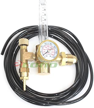 Argon CO2 Mig Tig Flow Meter Dual Tube Regulator Welder Strong Gas Tightness