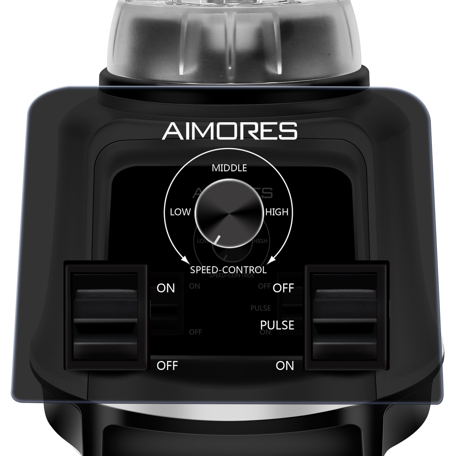 Professional Smoothie Blender Aimores | 750z High Speed Juicer, Ice Cream Maker | Optimized 6 Sharp Blades | Auto Clean & Simple Control | w/ Recipe & Tamper | ETL & FDA Certified (Silver) by ISUN (Image #2)