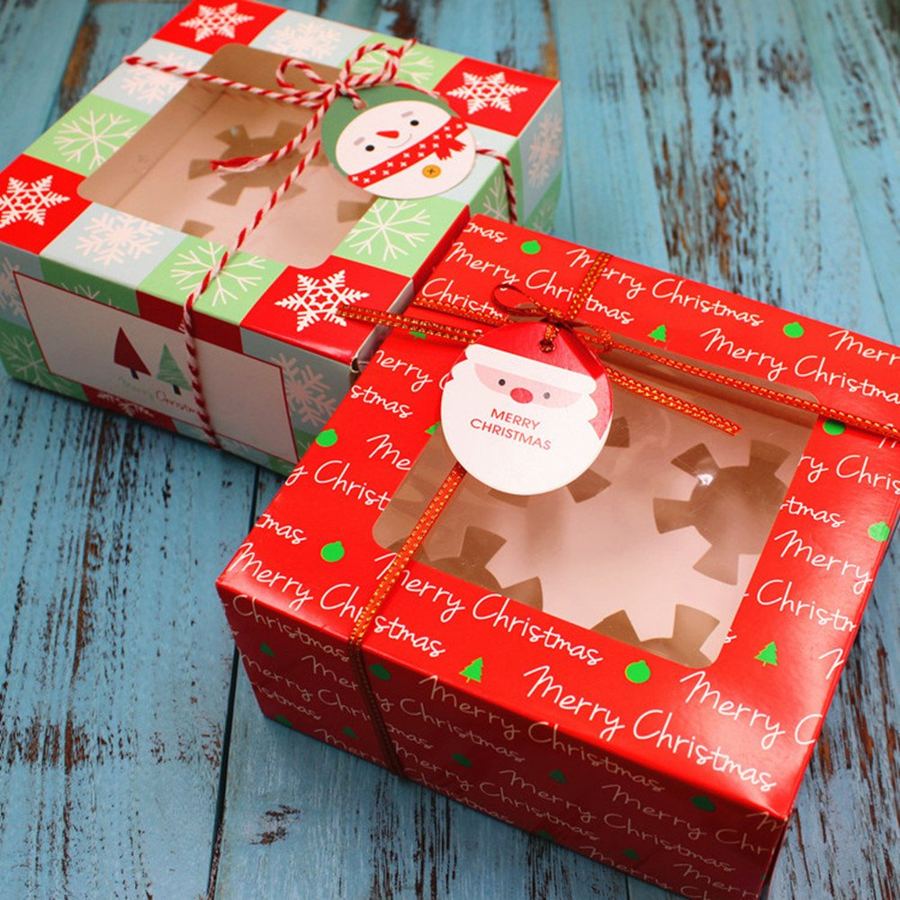 4 Pack Christmas Cupcake Boxes  Set of 10 Boxes