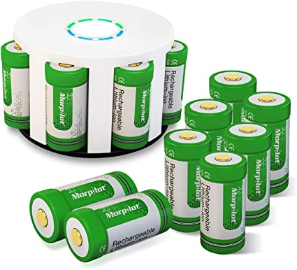 Keenstone Arlo Rechargeable Batteries 12 Pack with Charger 3.7v 700mAh Arlo Battery with Arlo Skin for Arlo HD Camera VMS3030//3130//3230//3330//3430