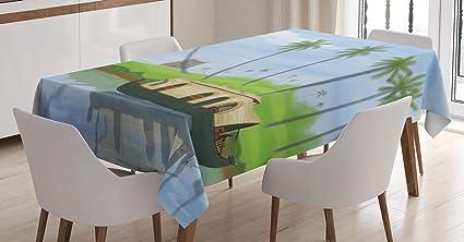 Amazon Com Lunarable Kerala Tablecloth Painting Style