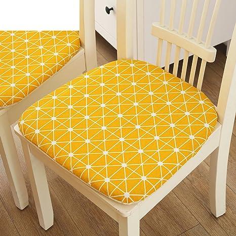 QTQZ Cuscino per sedie da pranzo in lattice antiscivolo, Country ...