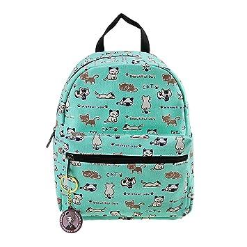 FakeFace Mochila saco infantil enfadado primaria proteger Cartera escolar para el hombro infantil de tela 1: Amazon.es: Equipaje