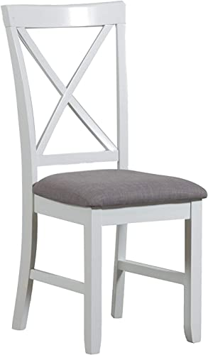 Powell Jane White Cushioned Dining Chair Set of 2