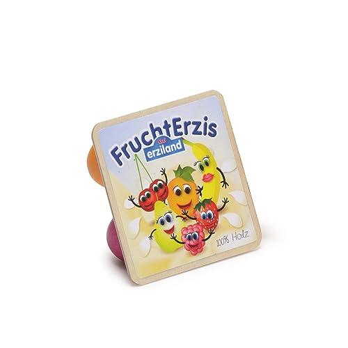 Erzi 7x 7x 2.7cm Pretend Play en bois épicerie Merchandize Fruits