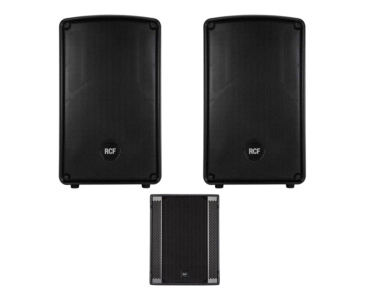 2x RCF HD 12-A MK4 + RCF Sub 708-AS II Active Speaker / Subwoofer 2.1 System