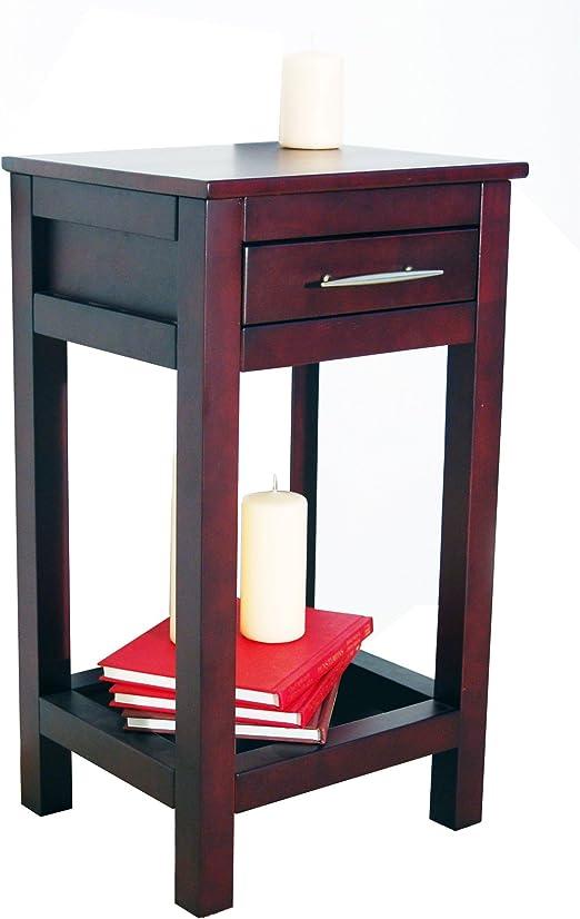 KYOTO - mesa auxiliar madera maciza - color wengue: Amazon.es: Hogar