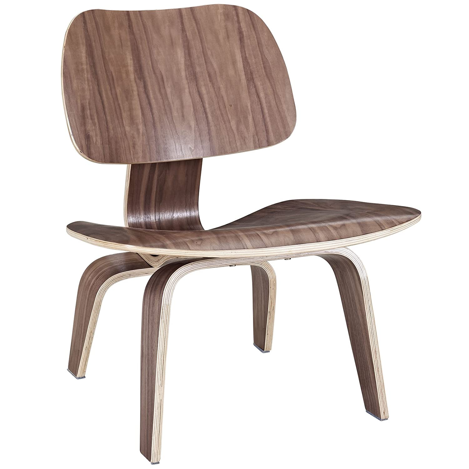 Amazon.com: Modway EEI 510 WAL Fathom Mid Century Modern Molded Plywood  Lounge Accent Chair Walnut: Kitchen U0026 Dining
