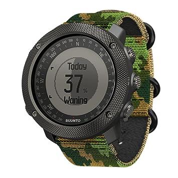 Suunto - Traverse Alpha - SS023445000 - Reloj GPS Outdoor para pesca, caza y excursionismo - Sumergible - Edición Woodland (Verde camuflaje) - Talla única: ...