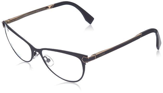 29673765c1a Amazon.com  FENDI Eyeglasses 0024 07Wh Shiny Black 53MM  Clothing