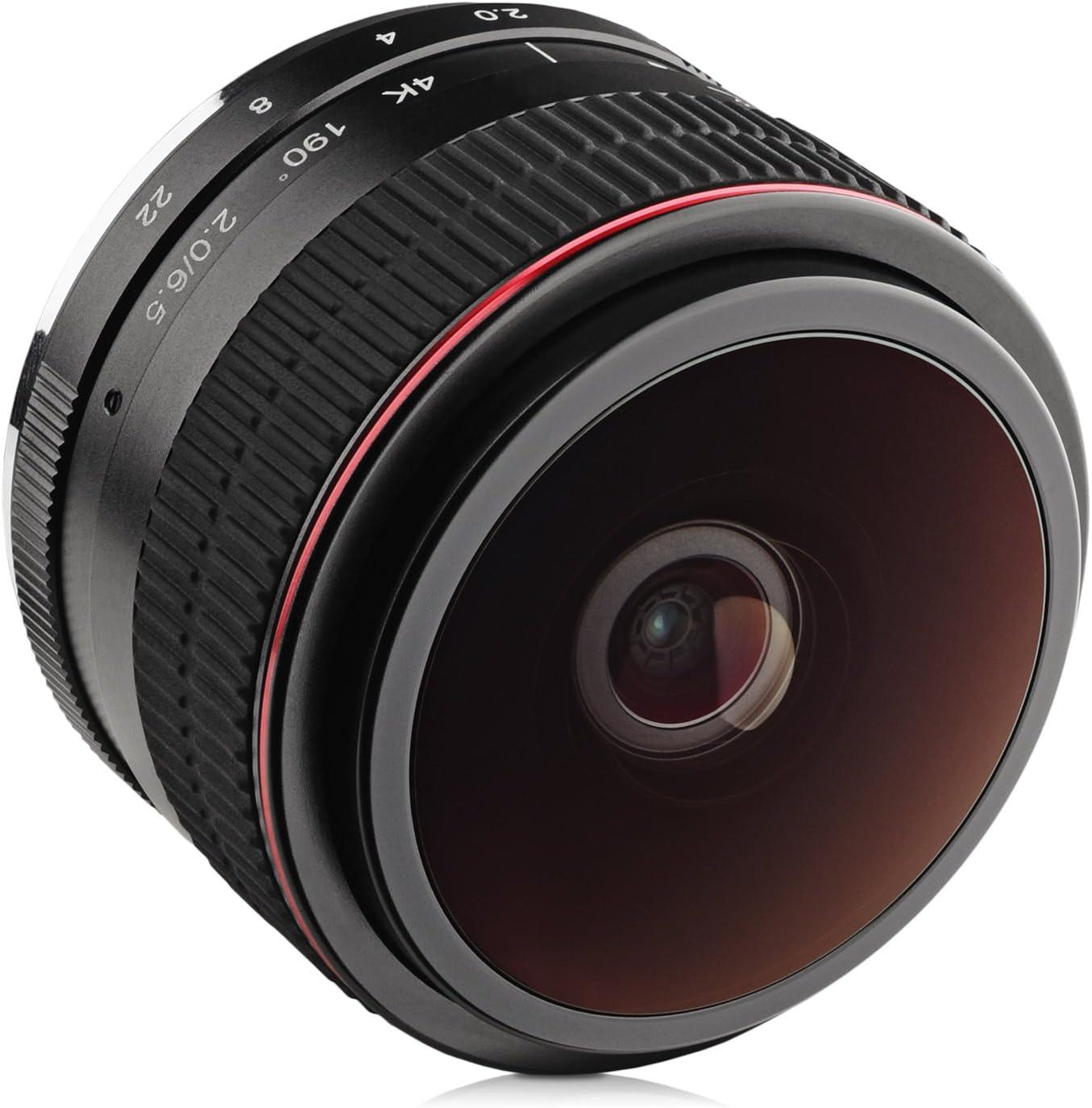 6.5mm gran angular ojo de pez para Sony E Mount A6600, A6500