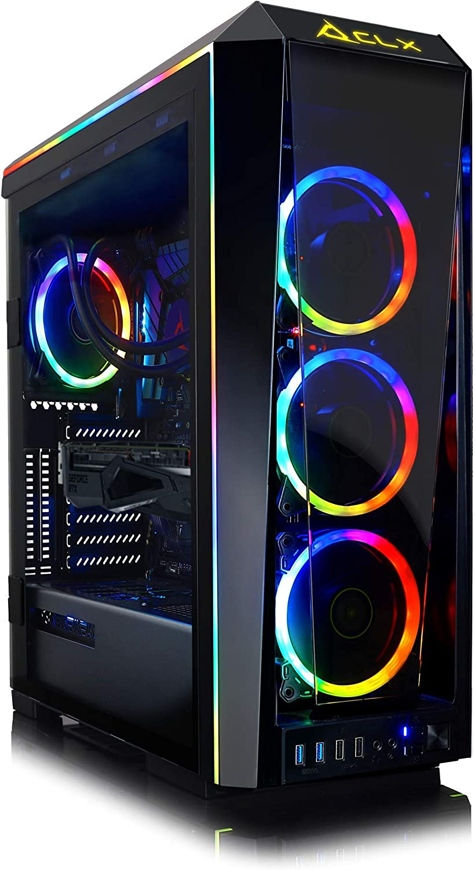 CLX Set Elite Gaming Desktop AMD Ryzen 9 3900X 3.8GHz 12-Core, 32GB DDR4, GeForce RTX 2080 Super 8GB, 1TB M.2 MVMe SSD + 4TB HDD, WiFi, Windows 10 Home