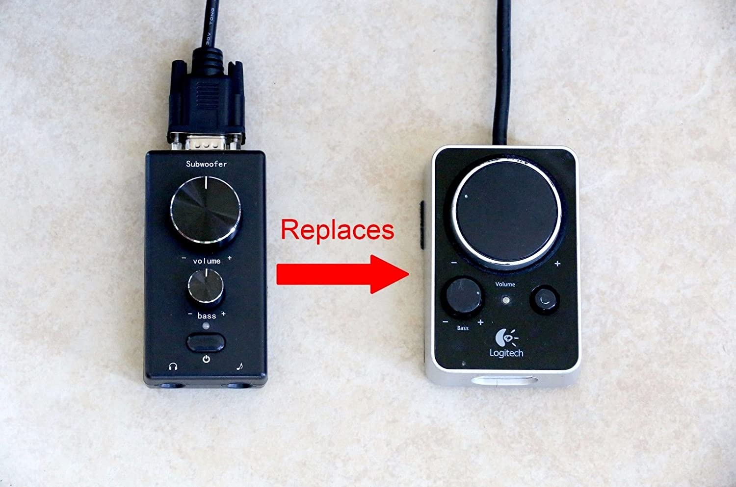 SummitLink Replacement Control Pod for Logitech Z-4 Computer Speakers z4 Remote Volume Ctrl