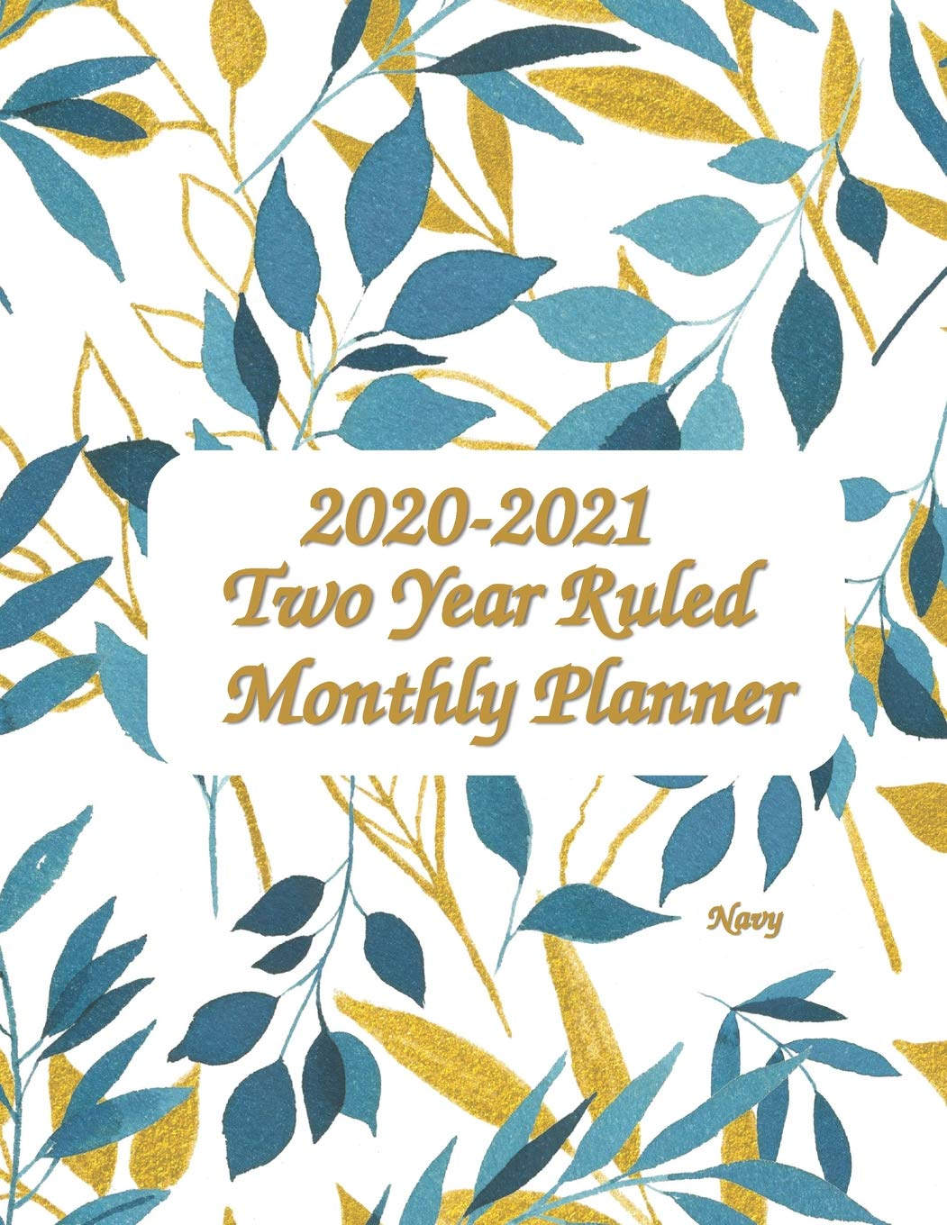 2020-2021 Two Year Ruled Monthly Planner - Navy 8.5x11: 8.5 ...