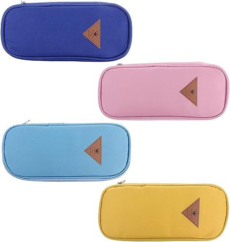 Manyo lienzo estuche escolar niña pas barato gran capacidad caja de bolígrafo Pochette de papelería maquillaje neceser de maquillaje, color amarillo 20.5cmx9cmx4cm/8.07inx3.54inx1.57in: Amazon.es: Oficina y papelería