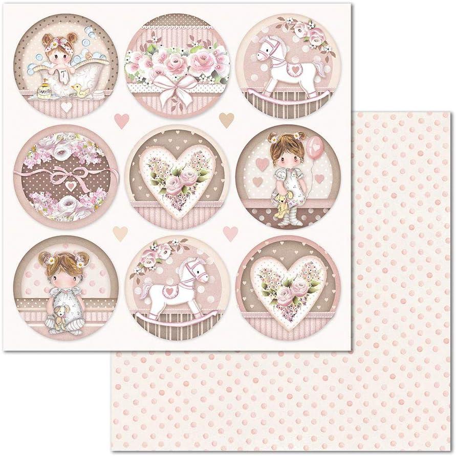 Stamperia Scrapbooking Papier Double Face 31,5x30,5cm Little Girl dendi Multicolore