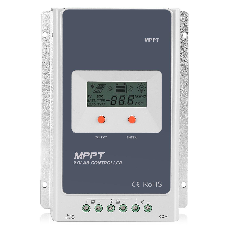 6e94bd76a6c Flexzion Solar Charger Controller 30A MPPT Tracer - Solar Panel Battery  Regulator Tracer 3210A 12V 24V Smart Overloading, Short-circuit Safe  Protection, ...