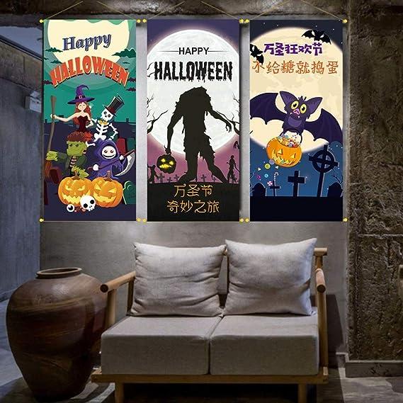 HTJBJ Nuevo Fondo de Halloween Cartel Decoración Bar Fiesta ...