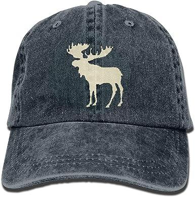 Buffalo Plaid Moose Shirts Short Sleeve Denim Hat Mens