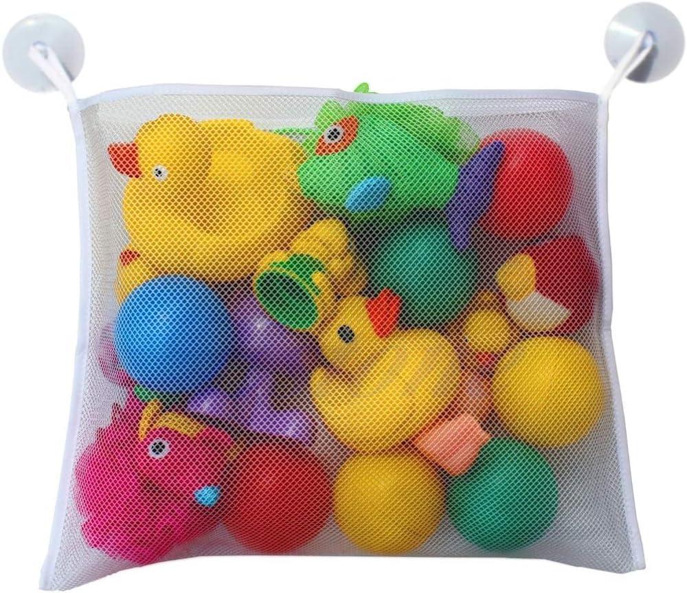 suoryisrty Bath Tidy Storage Premium Toy Tidy Organiser Net Mesh BagsStrong Suction Cups