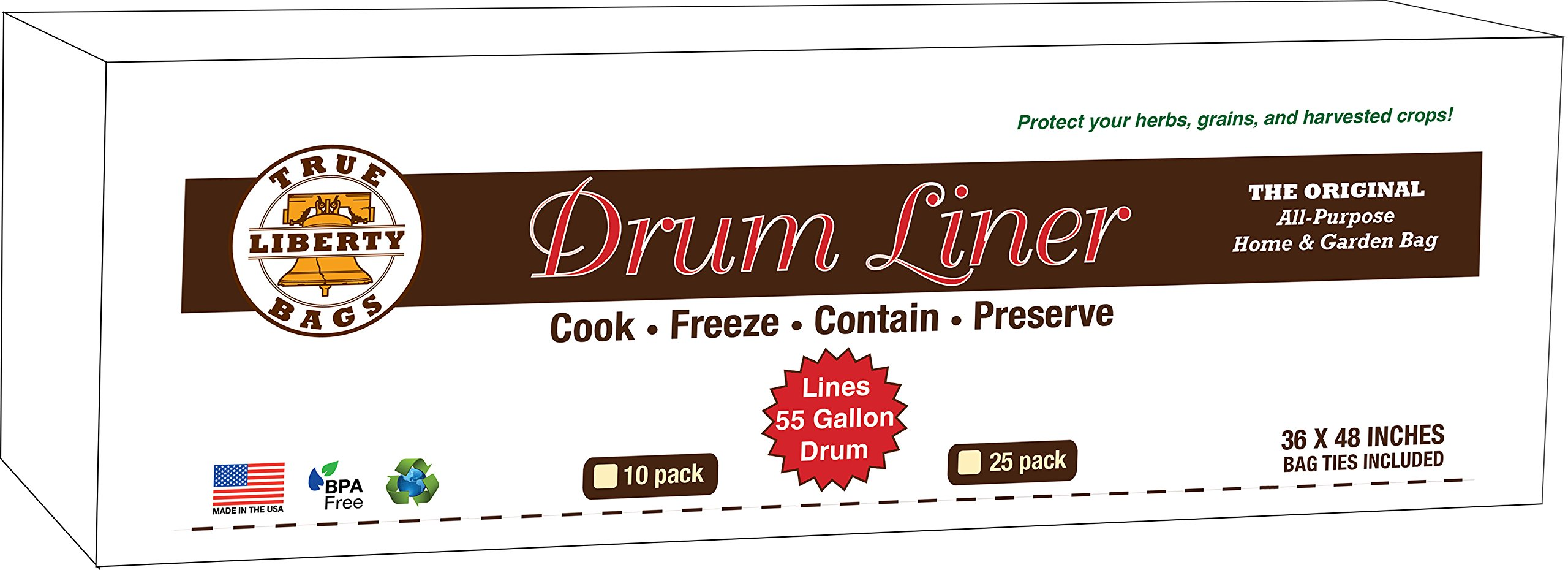 True Liberty Drum Liners - 25 Pack