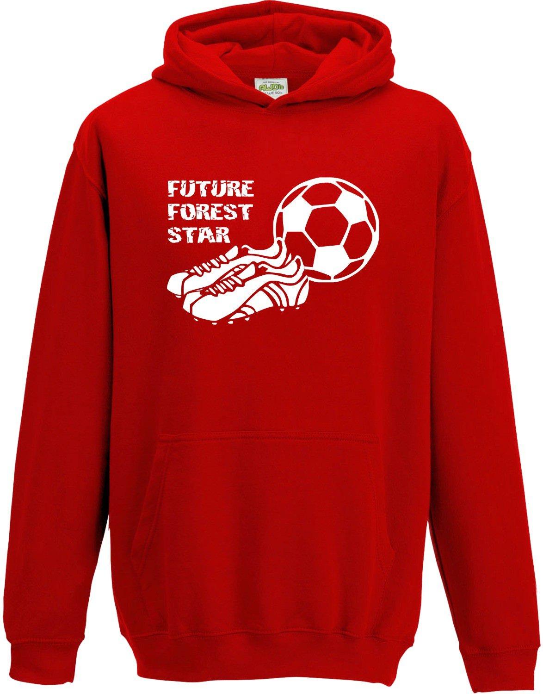 Hat-Trick Designs Nottingham Forest Football Baby/Kids/Childrens Hoodie Sweatshirt-Red-Future Star-Unisex Gift