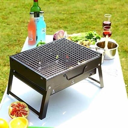 DABUTY, SL Barbacoa portatil grill Cahors jardin con patas plegables color negro