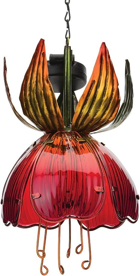 Regal Art /& Gift 5.5 Inches x 5Inches x 16 Inches Solar Fuchsia Lantern Purple Pink Garden Decor