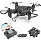 4DRC Mini Drone with 720p Camera for Kids and Adults, FPV V2 Drone Beginners RC Foldable Live Video Quadcopter,App Control,3D