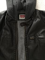 Levi's Men's Faux-Leather Jacket with Hood at Amazon Men's