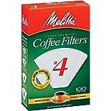 Melitta 624102 #4 Filtros de café blanco 100 unidades