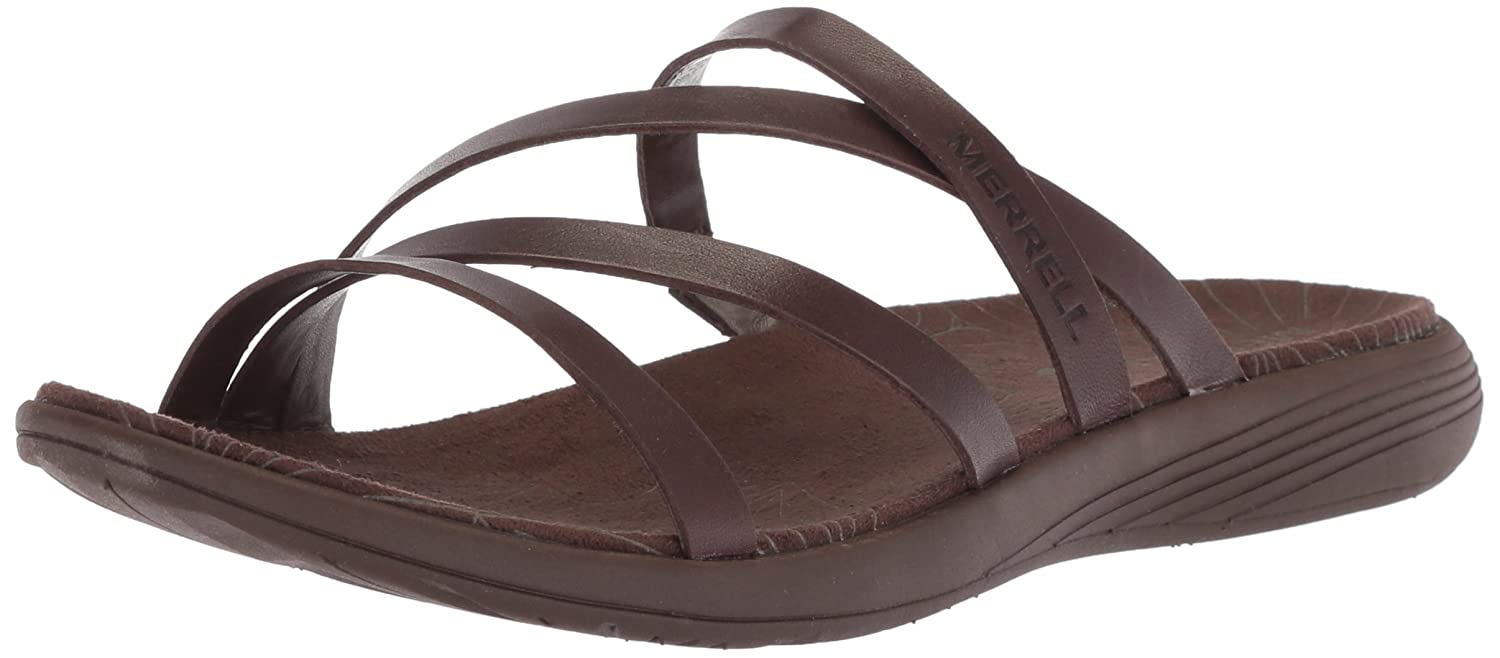 Merrell Women's Duskair Seaway Leather Slide Sandal B072Q12BB4 10 B(M) US|Bracken