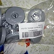 Kit ruote cesto inferiore lavastoviglie Ikea RDW45 8 pezzi grigie