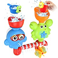 GOODLOGO Bath Toys Bathtub Toys for 2 3 4 Year Old Kids Toddlers Bath Wall Toy Waterfall...