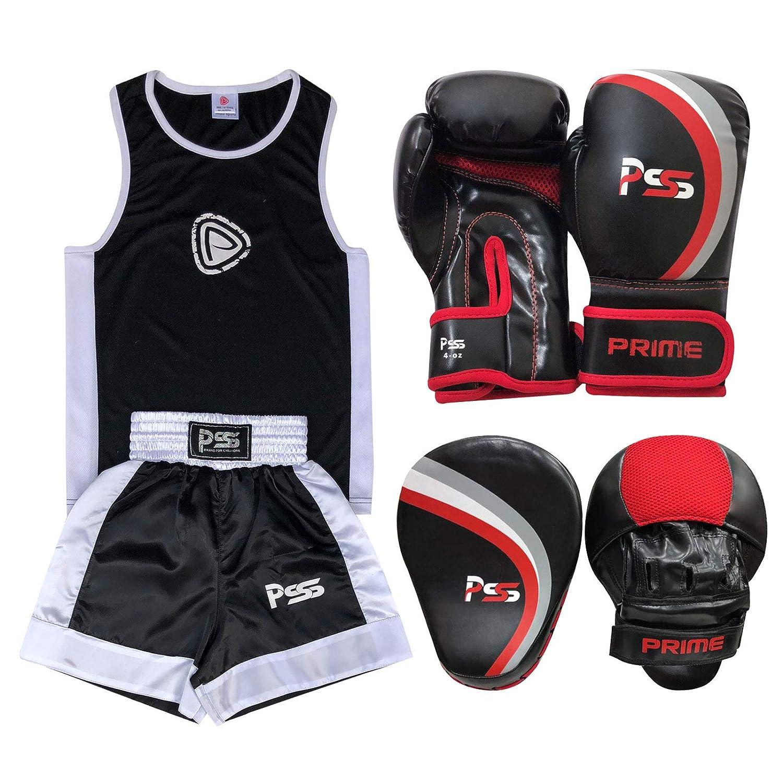 Prime Leather Kinder Boxset 3-teilig Uniform Alter 3-14 3-14 3-14 Top & Short  Kinder Boxhandschuhe 113 g 1020  Focus Pad 1107 B07GBV8JQL Boxsets Vorzugspreis c0f5e2