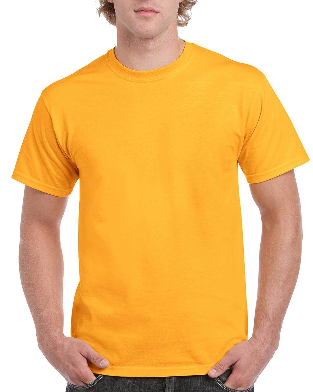 (ギルダン) Gildan メンズ ウルトラコットン クルーネック 半袖Tシャツ トップス 半袖カットソー 定番アイテム 男性用 B00YNJHMY6 4L|ゴールド ゴールド 4L