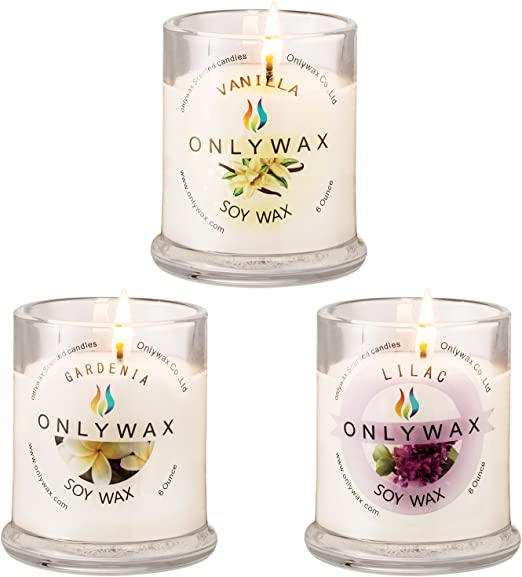 Orig//Cand 3pk Beeswax Candles