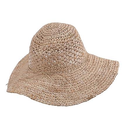 ef057994 Women's Raffia Straw Sun Hat - Natural OSFM at Amazon Women's Clothing  store: