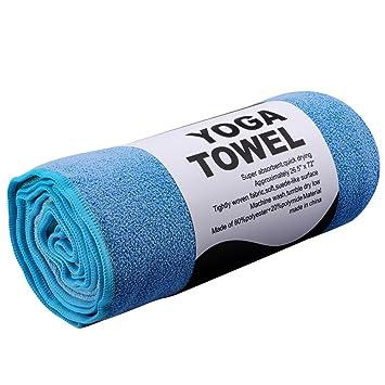 REEHUT Toalla para Hot Yoga (182cm x 61cm)- Toalla de Microfibra Bikram para Entrenamiento, Fitness y Pilates: Amazon.es: Deportes y aire libre
