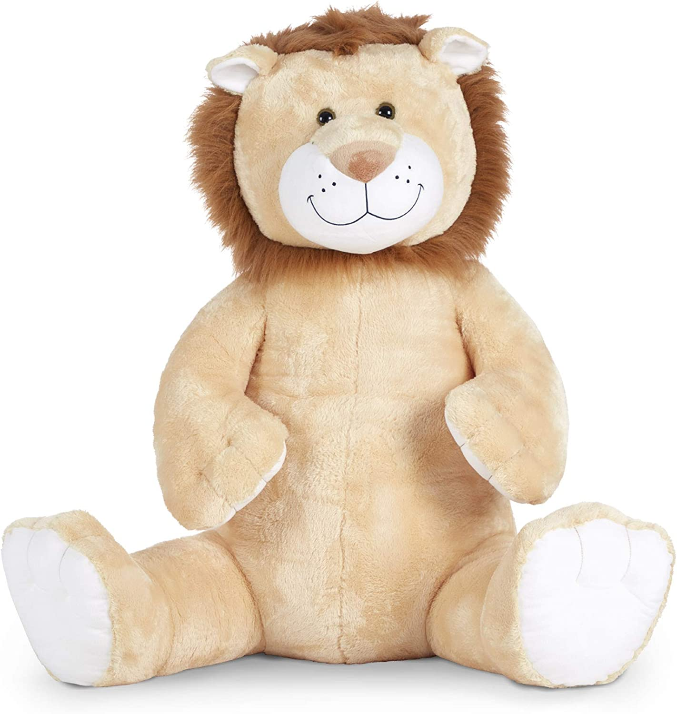 Melissa & Doug Gentle Jumbos Lion Giant Stuffed Plush Animal (Sits Nearly 3 Feet Tall)