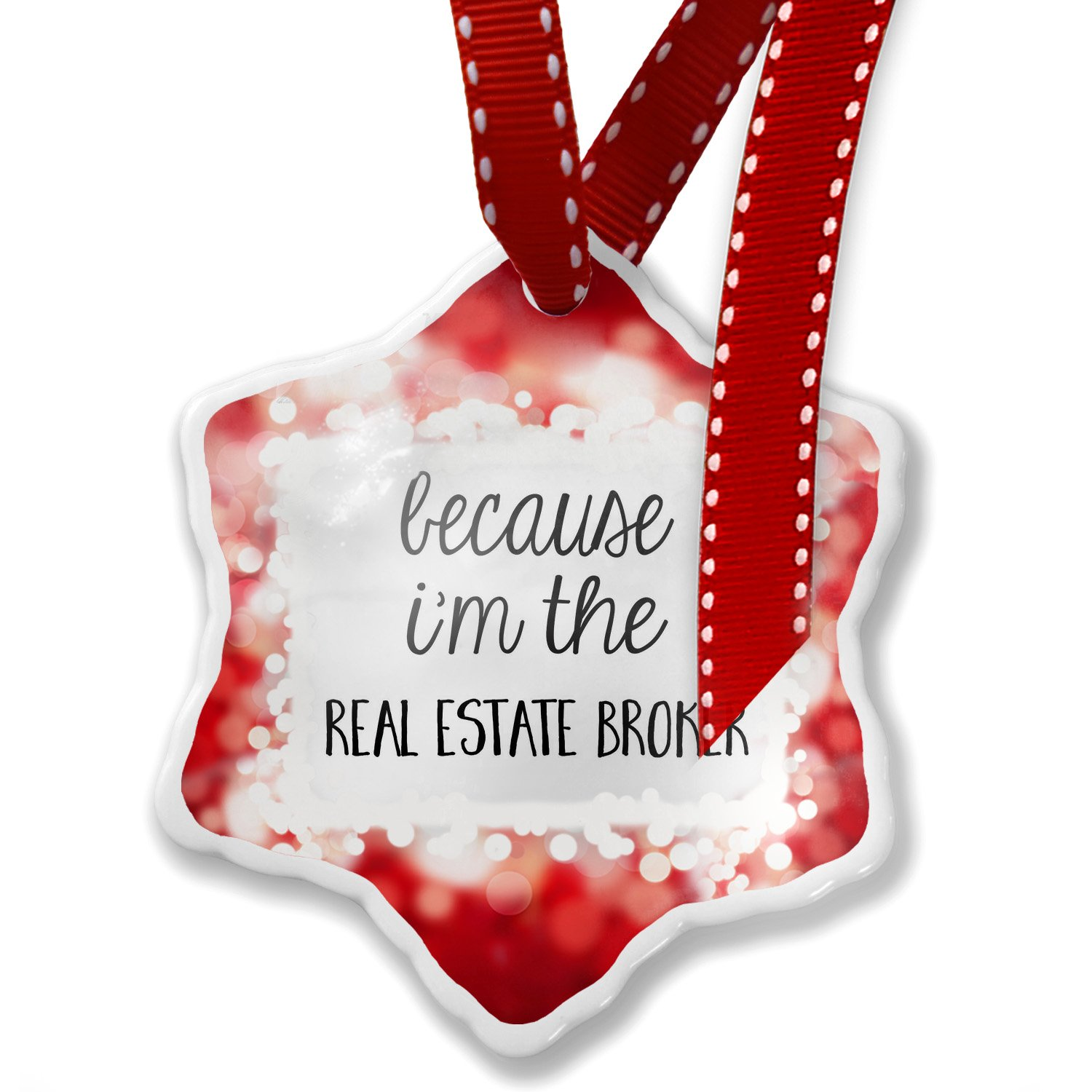 Amazon Christmas Ornament Because Im The Real Estate Broker