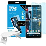 Google Pixel 2 XL Screen Protector Tempered Glass Shield [Liquid Dispersion Tech] 2.5D Edge of screen Coverage Dome Glass Easy Install Kit and UV Light by Whitestone for Google Pixel 2 XL (2017)