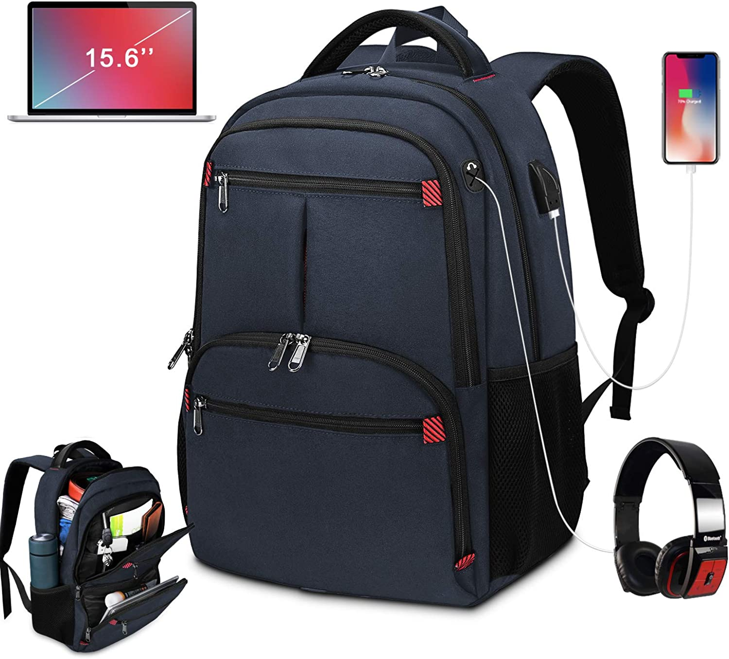 Travel Laptop Backpack Business Lightweight Backpack 15.6Inch College Backpack