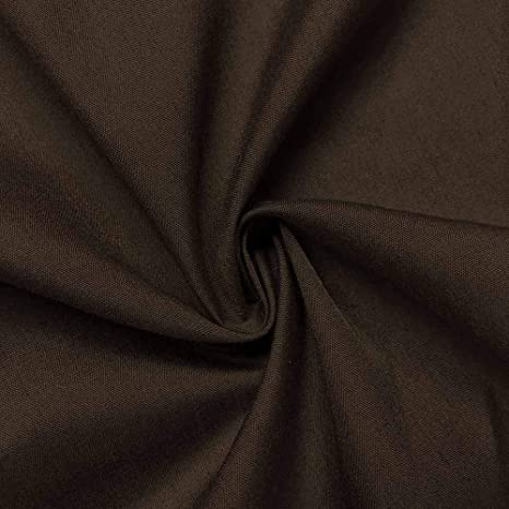 1 YARD, Off White Cotton Polyester Broadcloth Fabric Premium Apparel Quilting 45