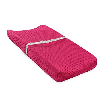 Carters Popcorn Valboa Changing Pad Cover, Siren Pink