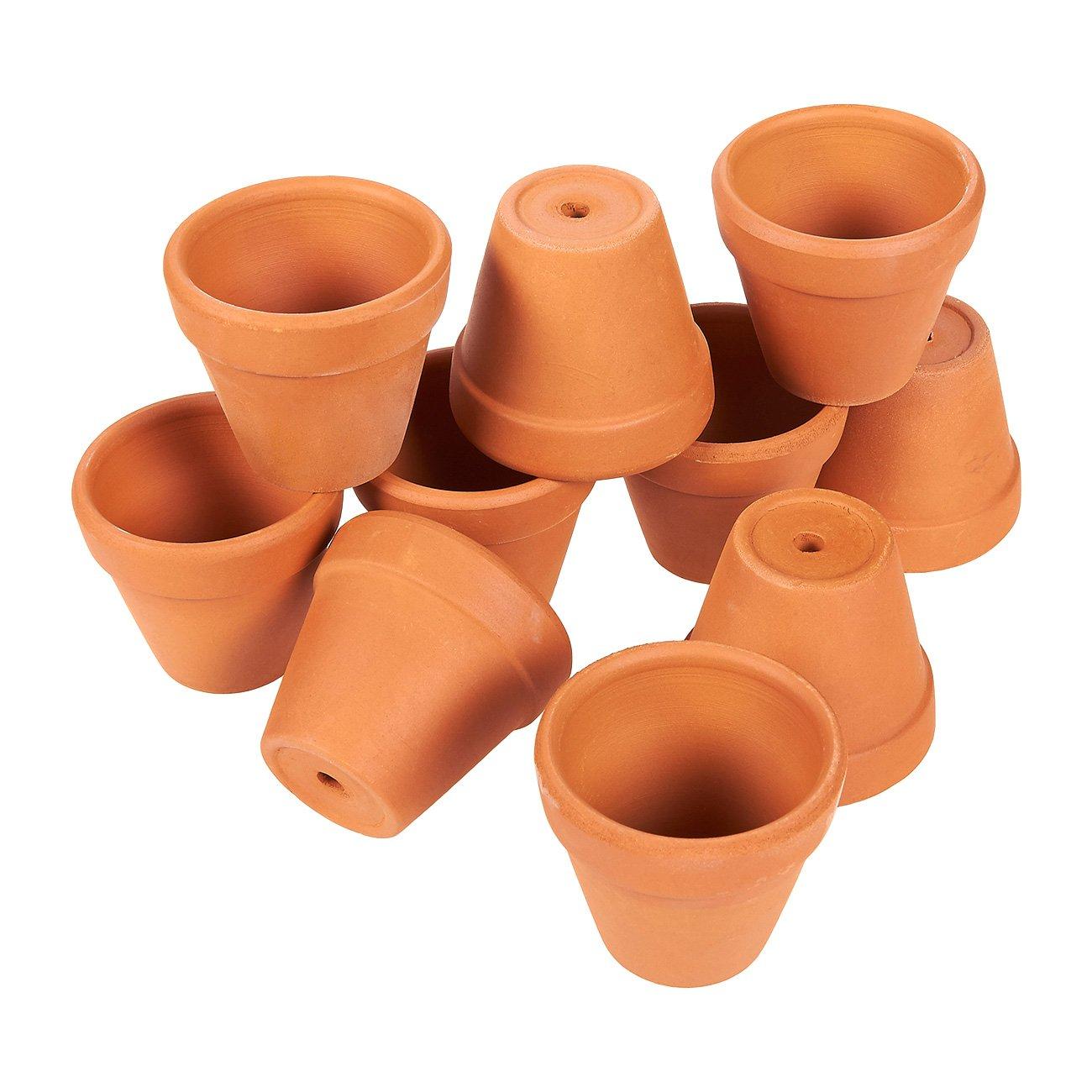 Juvale Mini Terracotta Pots 2 Inch Set of 10